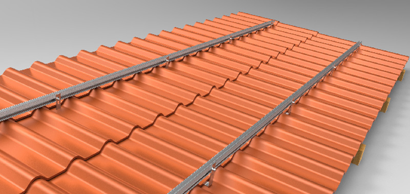 solar mounting pitched roof