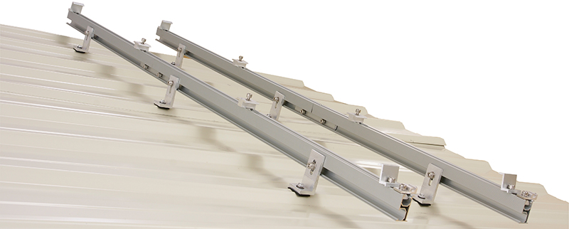 solar rail tin roof top mount rack strong