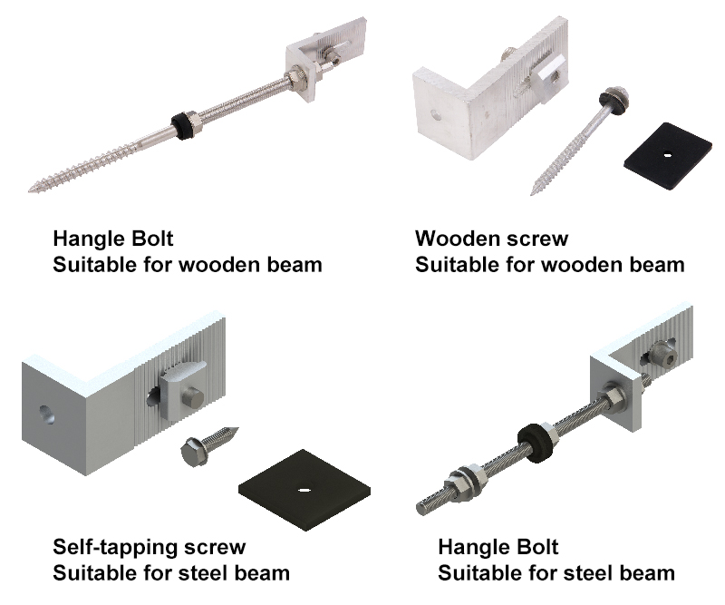 hanger bolt threaded bolt wooden steel beam