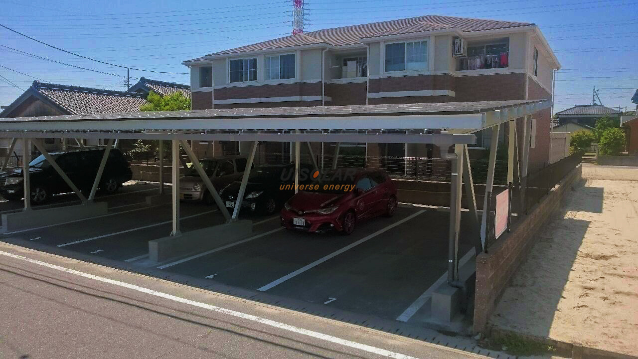 UISolar solar carport in Japan